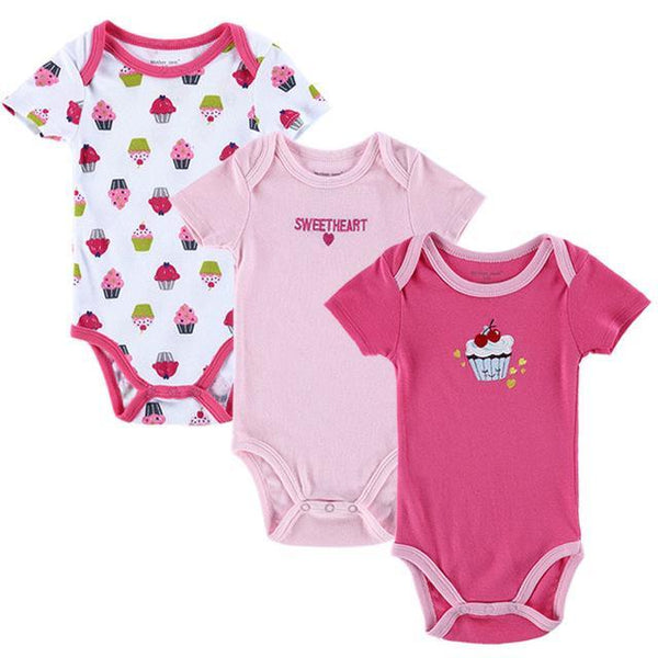 PINkart-USA Online Shopping 152010408 / 3M Mother Nest 3 Pieces/Lot Fantasia Baby Bodysuit Infant Jumpsuit Overall Short Sleeve Body Suit