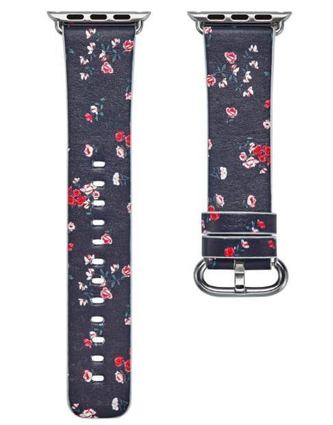 PINkart-USA Online Shopping 16 / 38mm Flower Gift Christmas Pattern Leather Strap For Apple Watch Band 42 38 40 44Mm Iwatch Series