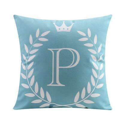PinKart-USA Online Shopping 16 no filling / 45x45cm 26 Letters Cushions Decorative Pillow Almofada Colorful Pillow Linen Cotton Throw Pillow Cushion Fo
