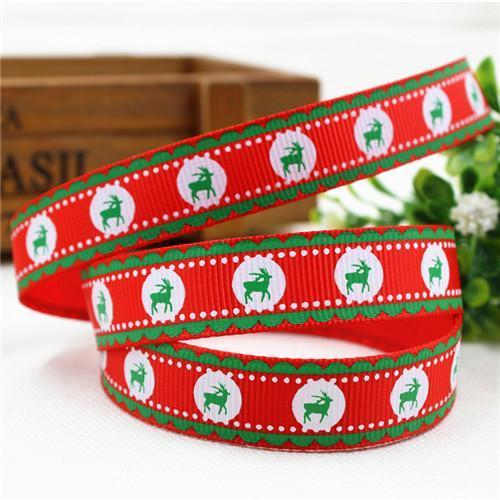 PinKart-USA Online Shopping 16MM 10 yards 2 1591032 , 15 Arrival 25Mm Christmas Series Printing Ribbon, Unique Models, Christma