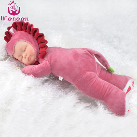 PINkart-USA Online Shopping 17 Inch Kawaii Plush Stuffed Toys For Girls Soft Simulated Babies Sleeping Dolls Kids Toys For
