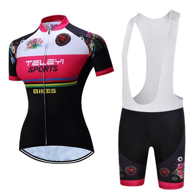 PINkart-USA Online Shopping 17 / S Teleyi Bike Team Women Cycling Jersey Ropa Ciclismo Breathable Bicycle Cycling Clothing Quick Dry