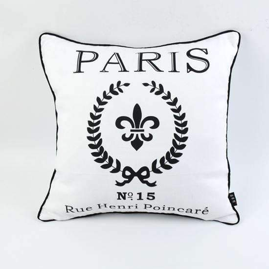 PinKart-USA Online Shopping 18 * 18 Decorative Shabby Chic White Paris Peach Skin Mircofiber Throw Pillow Case Cushion Cover