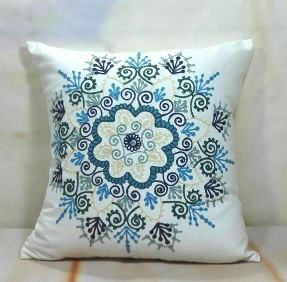 PinKart-USA Online Shopping 18 no filling Hot National Style Sofa /Carcushions Flowers And Fashion Pillows Decorate Hand-Embroidered