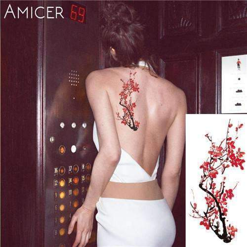 PinKart-USA Online Shopping 18 Rose Artificial Flowers Arm Shoulder Tattoo Stickers Flash Henna Tattoo Fake Waterproof Temporary
