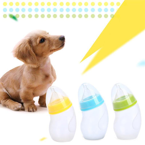PINkart-USA Online Shopping 180Ml Small Dog Cat Feeding Bottle Mouth Curved Bottle For Born Exclusive Use With Cleaning