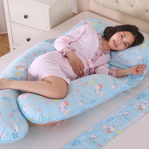 PINkart-USA Online Shopping 185*140*85Cm Body Pillows Sleeping Pregnancy Pillow Belly Contoured Maternity U Shaped Removable