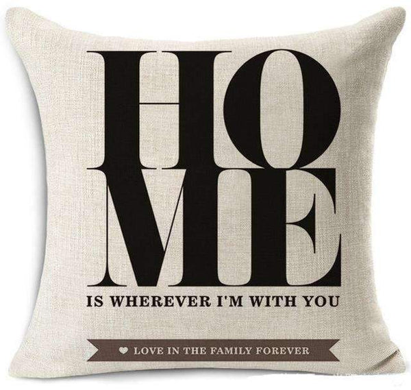 PinKart-USA Online Shopping 19 / 45x45 cm Hyha Fashion Funny Words Pillowcase Geometric Letter Pillow Cases Home Simple Colorful Words