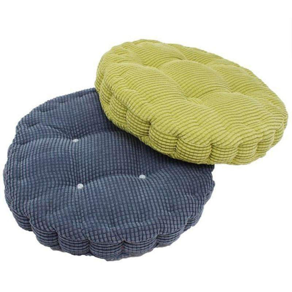 PinKart-USA Online Shopping 1Pc 36*38Cm Round Shape Plaid Chair Pad Cushion Thicker Soft Washable Cotton Colorful Home Decor