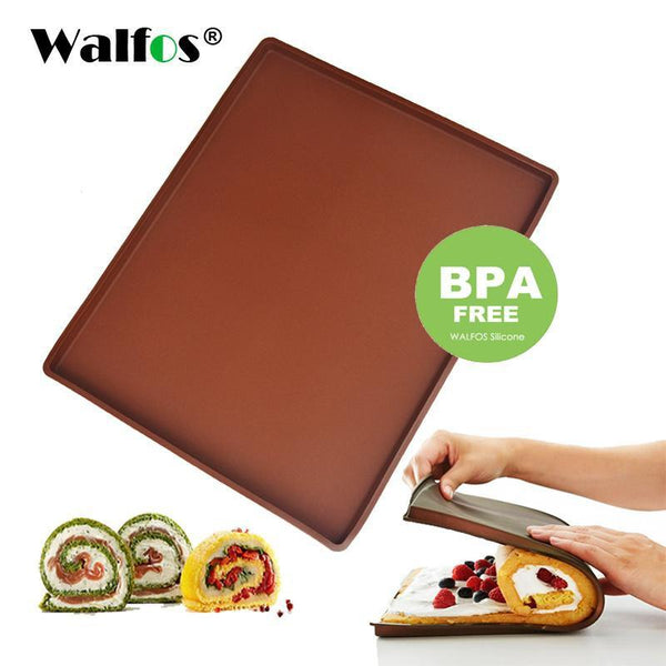 PinKart-USA Online Shopping 1Pc Non-Stick Silicone Oven Mat Cake Roll Mat Baking Mat Functional Baking Macaron Cake Pad Swiss