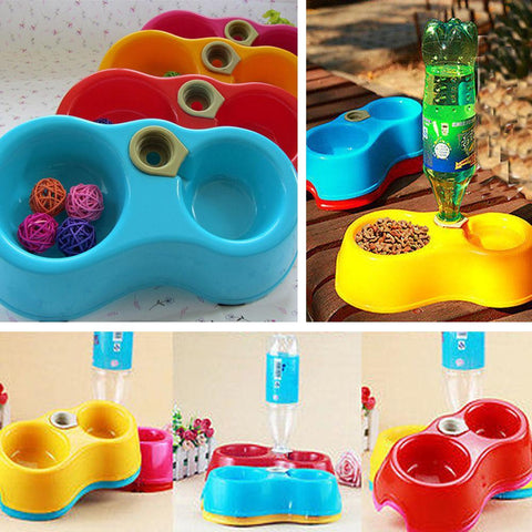 PINkart-USA Online Shopping 1Pc Pet Dog Cat Automatic Water Dispenser Food Dish Bowl Feeder Drinking Bowl Bottle