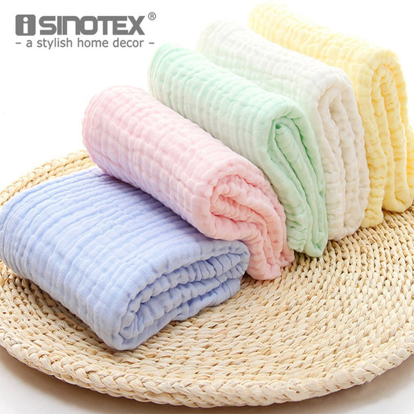 PinKart-USA Online Shopping 1Pcs Baby Bath Towel 100% Cotton Six Layers Gauze Super Soft Absorbent Baby Neonatal Receiving