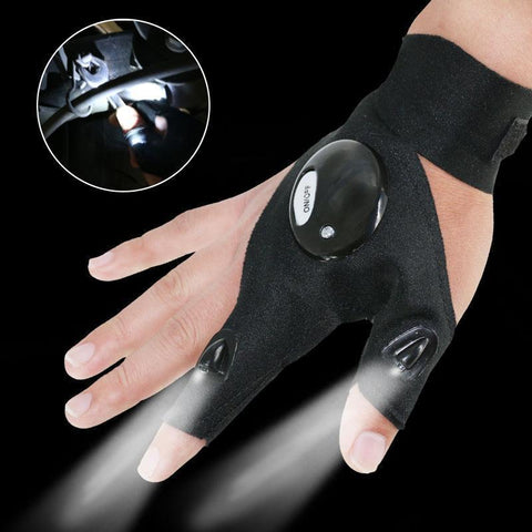 PinKart-USA Online Shopping 1Pcs Lighting Glove Night Car Repair Glove Led Light Night Fishing Lamp Glove Hanging Bait Lamp