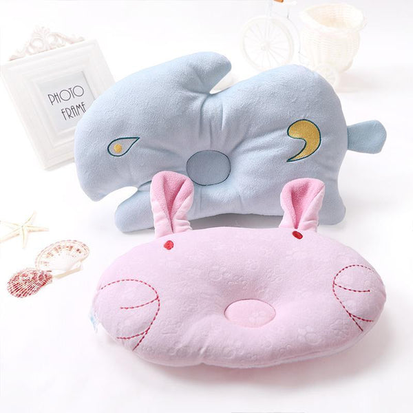 PINkart-USA Online Shopping 1Pcs Soft Baby Infant Bedding Rabbit Print Oval Shape Baby Shaping Pillow Travel Support Prevent