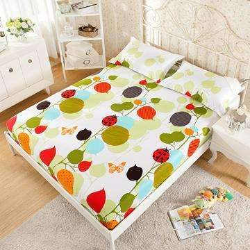 PinKart-USA Online Shopping 2 / 180x200x25cm 100% Cotton Modern Bed Sheets Colorful Cartoon Printing Bedding Fitted Sheet Simply Elastic