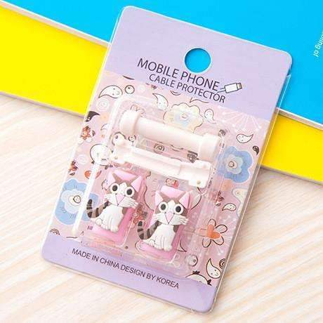 PinKart-USA Online Shopping 2 1Pc Fashion Cute Cartoon Usb Cable Protector Cover Case For Apple Iphone Android Charger Data