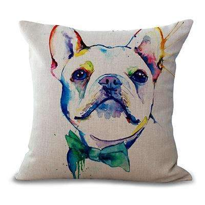PinKart-USA Online Shopping 2 / 44x44cm No Filling Miracille Square 18 French Bulldog Printed Decorative Sofa Throw Cushion Pillows Pets Dogs