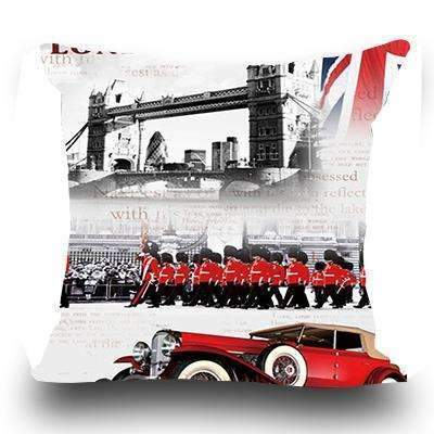 PinKart-USA Online Shopping 2 / 45x45cm Just Cover Miracille Fashion European Decorative Cushions London Style Throw Pillows Car Home Decor Cushion