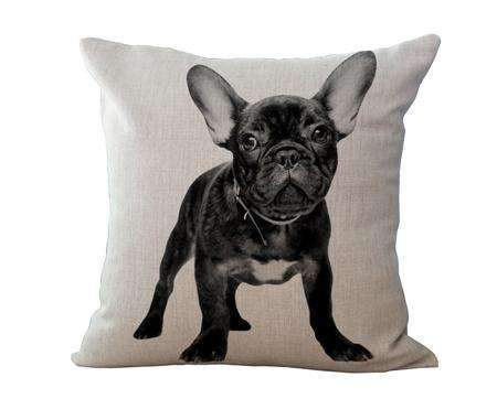 PinKart-USA Online Shopping 2 / 45x45cm No Filling Miracille 18Cotton Linen French Bulldog Digital Print Square Decorative Throw Pillow Cushions For