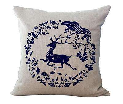 PinKart-USA Online Shopping 2 / 45x45cm Square 18 Linen Cushion Blue And White Porcelain Printed Home Decorative Cushions Almofada For