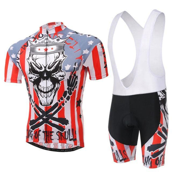 PINkart-USA Online Shopping 2 / L Skull Style Summer Cycling Clothing/Short Sleeve Cycling Jersey Ropa Ciclismo/Mtb Bike Jersey