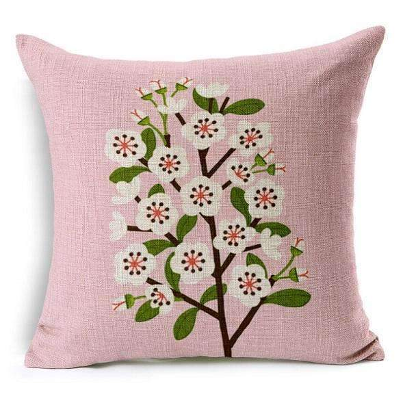 PinKart-USA Online Shopping 2 no filling / 45x45cm Flower Decorative Pillows Home Car Tree Cushions Funda Cojines Wave Coussin Decoration Ch5D07