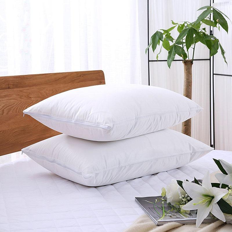 2 Pack 50*70Cm Zippered Terry Pillow Protector Waterproof Pillow Covers Protects Against Dust Mite