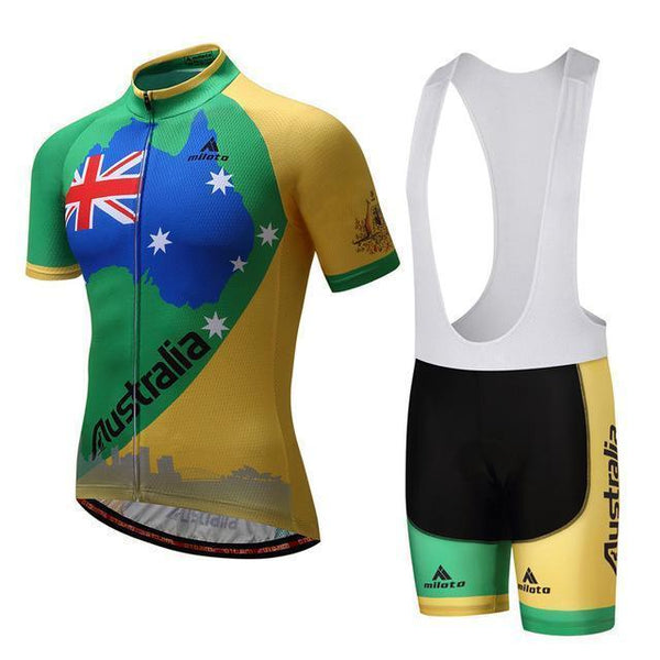 PINkart-USA Online Shopping 2 / S Australia Bike Team Racing Sport Cycling Jersey Ropa Ciclismo Sumemr Mtb Bike Jersey Cycling