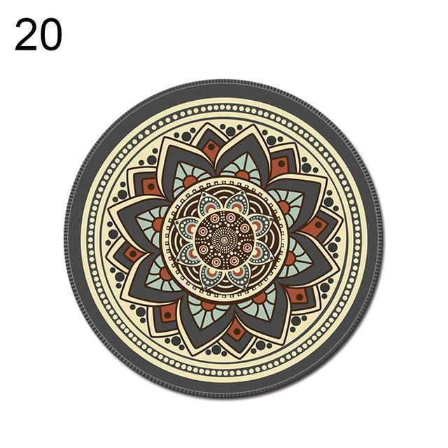 PINkart-USA Online Shopping 20 1Pcs Vintage Bohemian Round Computer 3D Game Carpet Mouse Pad Mat Anti Slip Mousepad