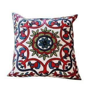PinKart-USA Online Shopping 20 no filling Hot National Style Sofa /Carcushions Flowers And Fashion Pillows Decorate Hand-Embroidered