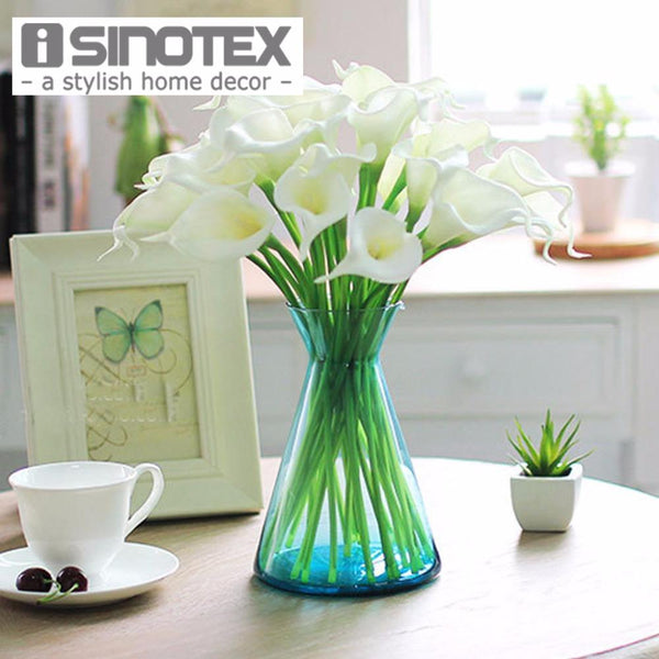 PinKart-USA Online Shopping 20 Pcs/Lot Wedding Decoration Elegant Calla Artificial Flowers Decorative Flowers Bouquet