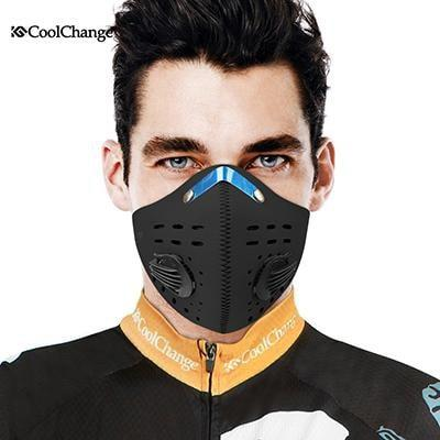 PinKart-USA Online Shopping 2000704L Cycling Mask With Filter 9 Colors Half Face Carbon Bicycle Bike Training Mask Mascarilla Polvo