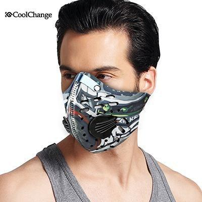 PinKart-USA Online Shopping 2001009 Cycling Mask With Filter 9 Colors Half Face Carbon Bicycle Bike Training Mask Mascarilla Polvo