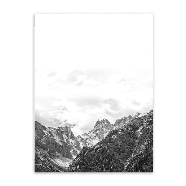 PinKart-USA Online Shopping 20X25CM No Frame / Mountain Nordic Style Mountain Canvas Art Print Painting Poster, Wall Pictures For Home Decoration, Wall