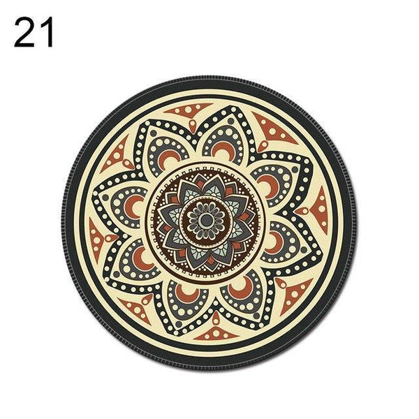PINkart-USA Online Shopping 21 1Pcs Vintage Bohemian Round Computer 3D Game Carpet Mouse Pad Mat Anti Slip Mousepad