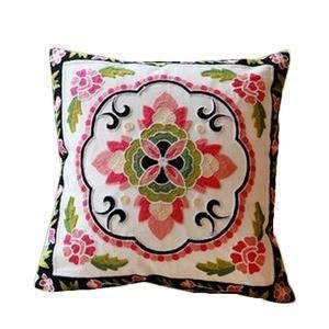 PinKart-USA Online Shopping 22 no filling Hot National Style Sofa /Carcushions Flowers And Fashion Pillows Decorate Hand-Embroidered
