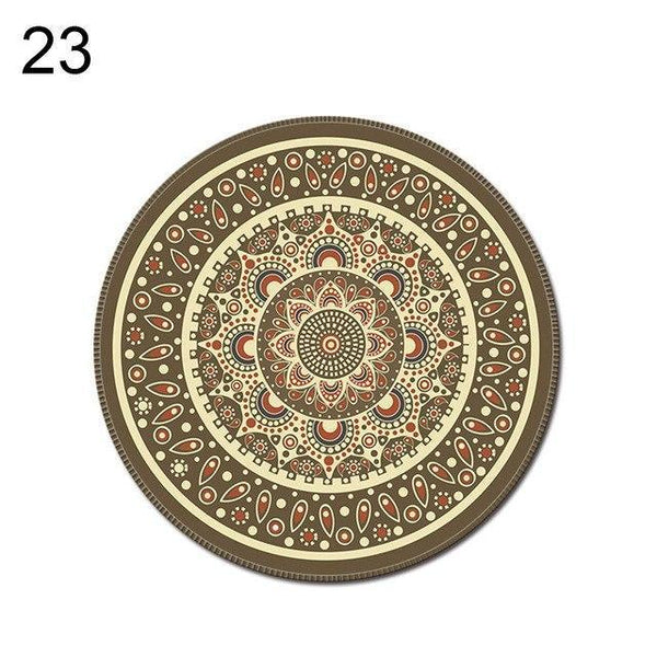 PINkart-USA Online Shopping 23 1Pcs Vintage Bohemian Round Computer 3D Game Carpet Mouse Pad Mat Anti Slip Mousepad