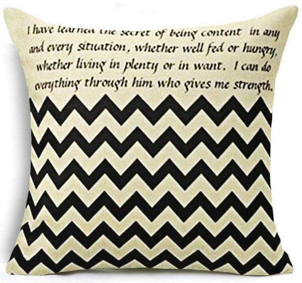 PinKart-USA Online Shopping 24 / 45x45 cm Hyha Fashion Funny Words Pillowcase Geometric Letter Pillow Cases Home Simple Colorful Words