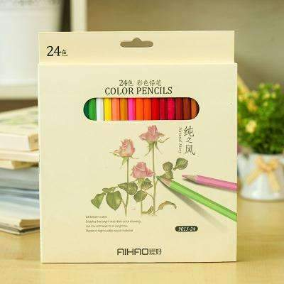 PinKart-USA Online Shopping 24 color pack Nature Story Color Pencils For Drawing 36 Different Colores Pencil Set Crayon Stationery Office