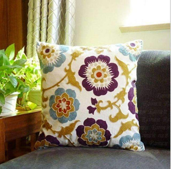 PinKart-USA Online Shopping 24 no filling Hot National Style Sofa /Carcushions Flowers And Fashion Pillows Decorate Hand-Embroidered