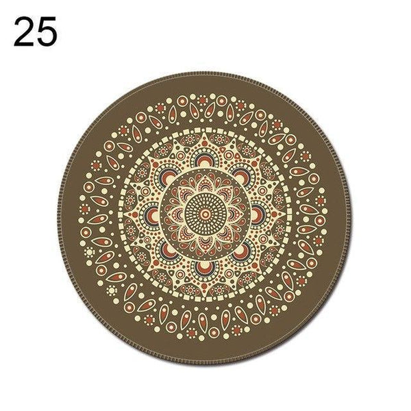 PINkart-USA Online Shopping 25 1Pcs Vintage Bohemian Round Computer 3D Game Carpet Mouse Pad Mat Anti Slip Mousepad