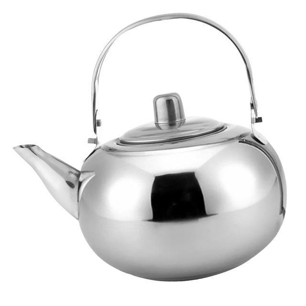PINkart-USA Online Shopping 2500ml Silver 1000Ml / 1500Ml / 2000Ml / 2500Ml Durable Outdoor Camping Stainless Steel Tea Kettle Waterpot