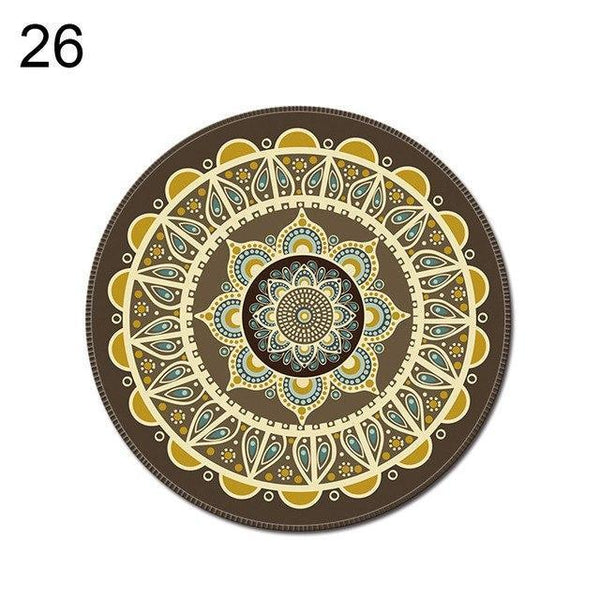 PINkart-USA Online Shopping 26 1Pcs Vintage Bohemian Round Computer 3D Game Carpet Mouse Pad Mat Anti Slip Mousepad
