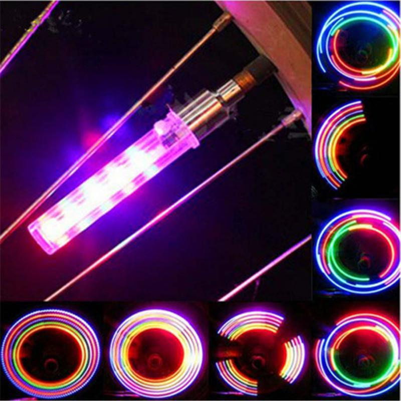 PINkart-USA Online Shopping 2Pcs 5 Led Bicycle Light Mountain Cycling Bike Tire Wheel Valve Led Flash Light Including Battery