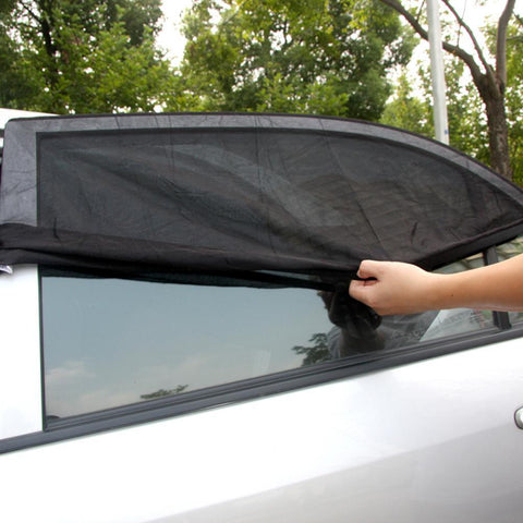 PINkart-USA Online Shopping 2Pcs Adjustable Adjustable Auto Car Side Rear Window Sun Shade Black Mesh Car Cover Visor Shield
