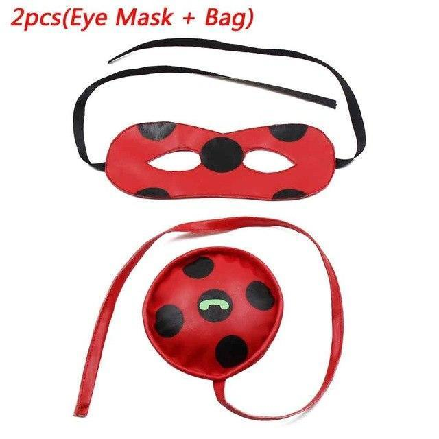 PINkart-USA Online Shopping 2PCS EyeMask Add Bag / S Kids Miraculous Ladybug Costumes For Girl Wig Bag Halloween Party Adult Girls Suit Spandex Onesie