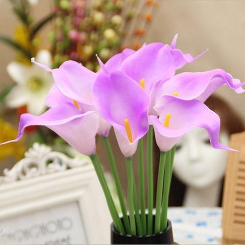 PinKart-USA Online Shopping 3 20 Pcs/Lot Wedding Decoration Elegant Calla Artificial Flowers Decorative Flowers Bouquet