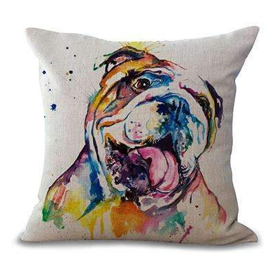 PinKart-USA Online Shopping 3 / 44x44cm No Filling Miracille Square 18 French Bulldog Printed Decorative Sofa Throw Cushion Pillows Pets Dogs