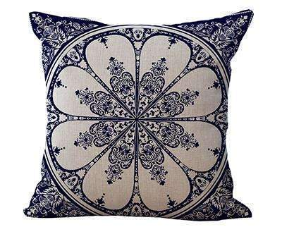 PinKart-USA Online Shopping 3 / 45x45cm Square 18 Linen Cushion Blue And White Porcelain Printed Home Decorative Cushions Almofada For
