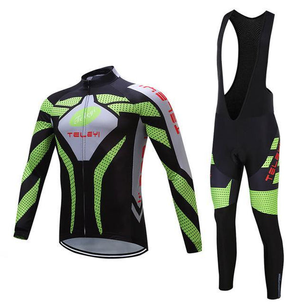PINkart-USA Online Shopping 3 / 4XL Teleyi Long Sleeve Cycling Jersey Sets Ropa Ciclismo Mtb Bike Jersey Cycling Clothing Maillot